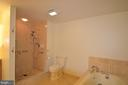 Master bath with separate shower - 5610 WISCONSIN AVE #406, CHEVY CHASE