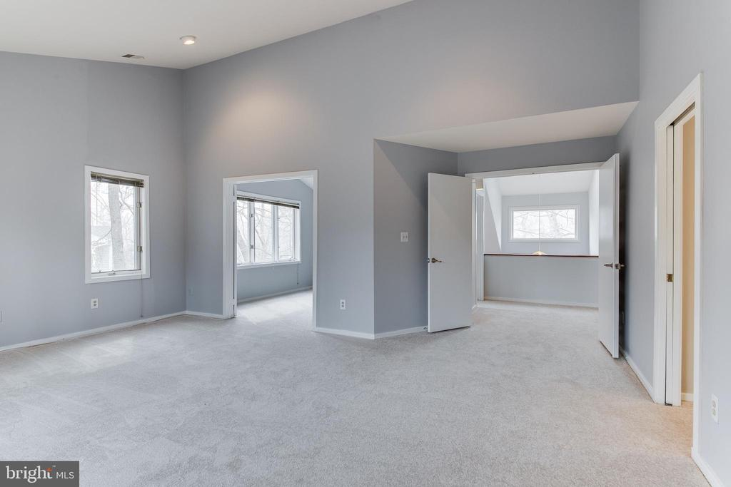 Master Bedroom w/New Carpet and Vaulted Ceilings - 1505 N VILLAGE RD, RESTON