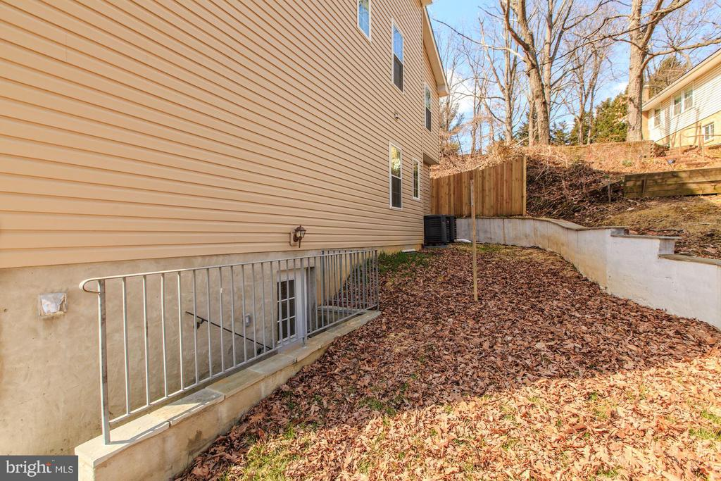 Stairs lead to Separate Side Entrance to Basement - 4412 RYNEX DR, ALEXANDRIA