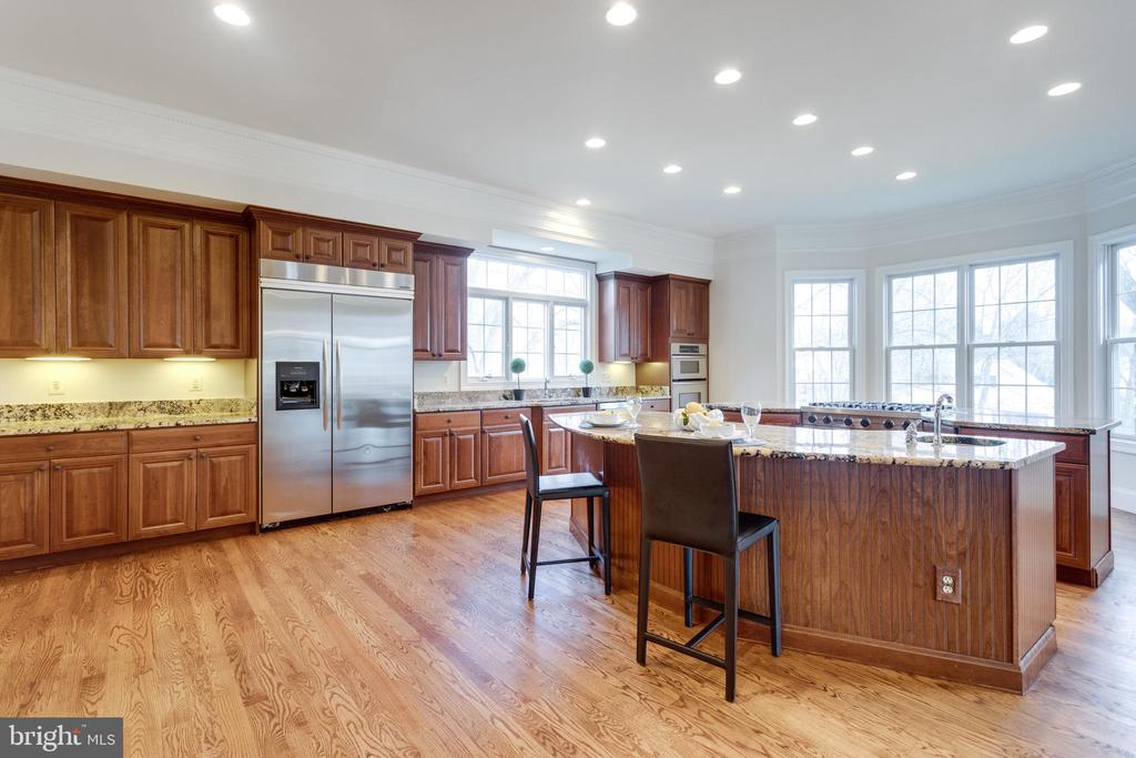 Large fridge and tons of cherry cabinetry - 1847 HUNTER MILL RD, VIENNA