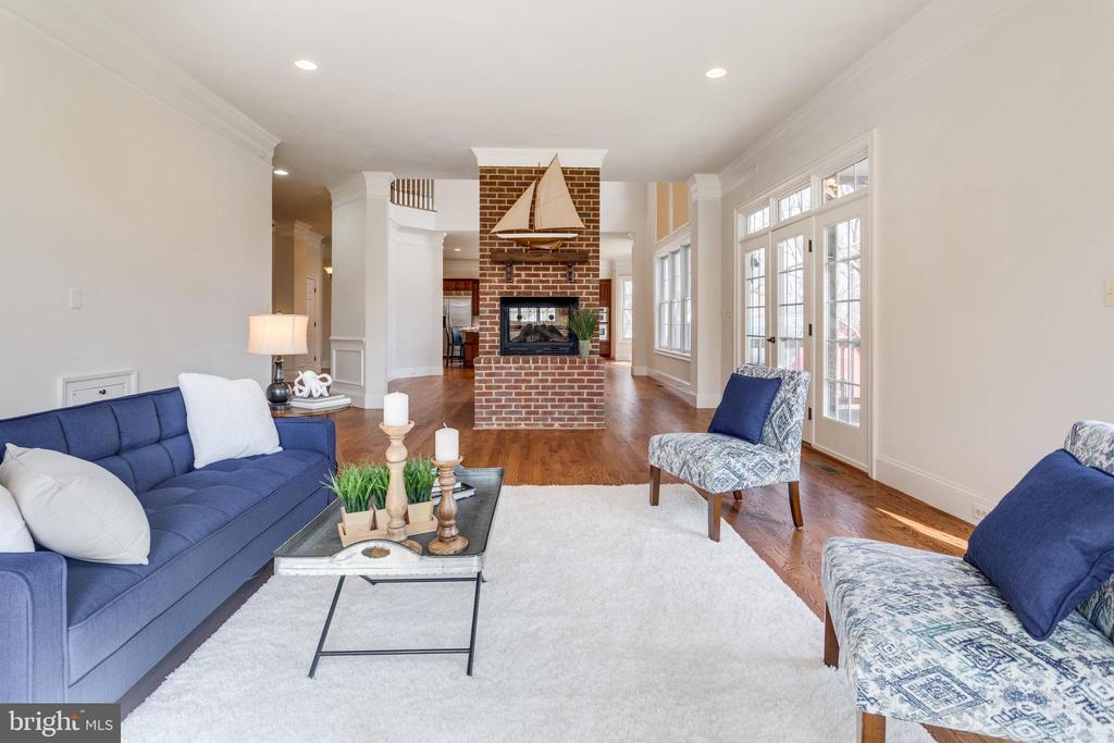 Cozy FOUR sided fireplace! - 1847 HUNTER MILL RD, VIENNA