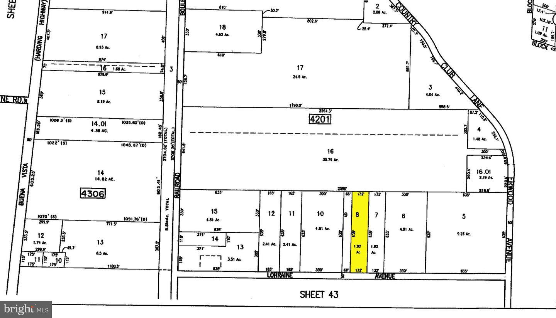 Terrain pour l Vente à LOT 8 LORRAINE Avenue Richland, New Jersey 08350 États-Unis