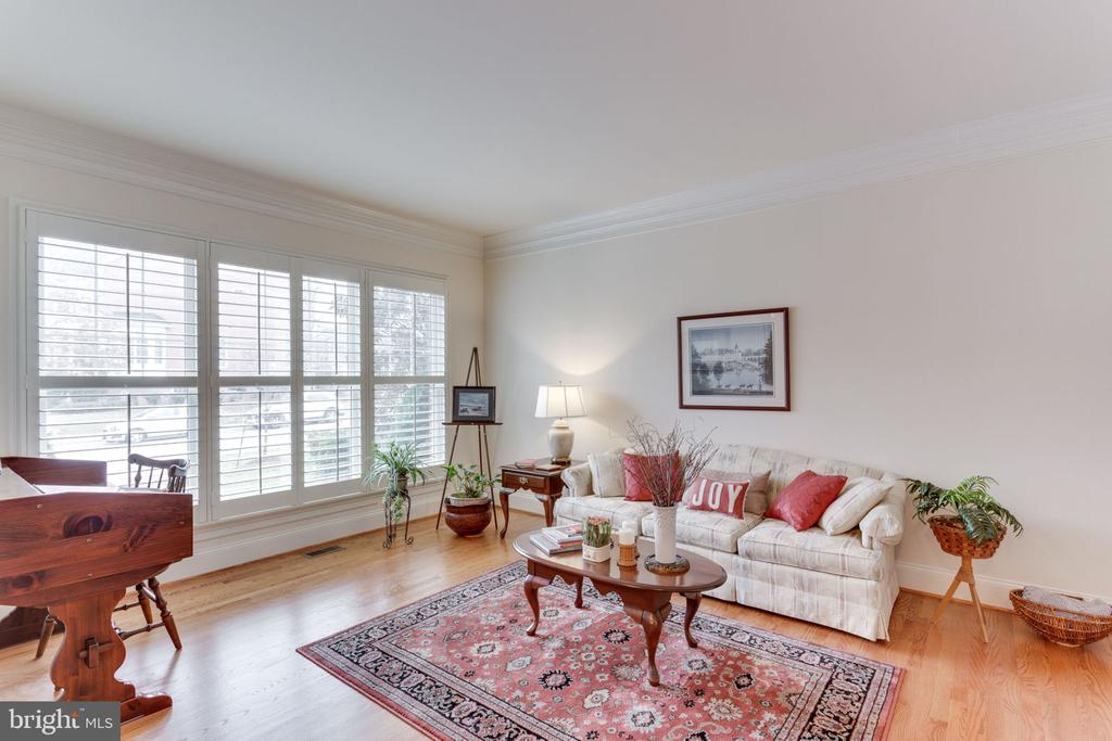 Formal living room with view of the quiet street. - 6397 GAYFIELDS RD, ALEXANDRIA