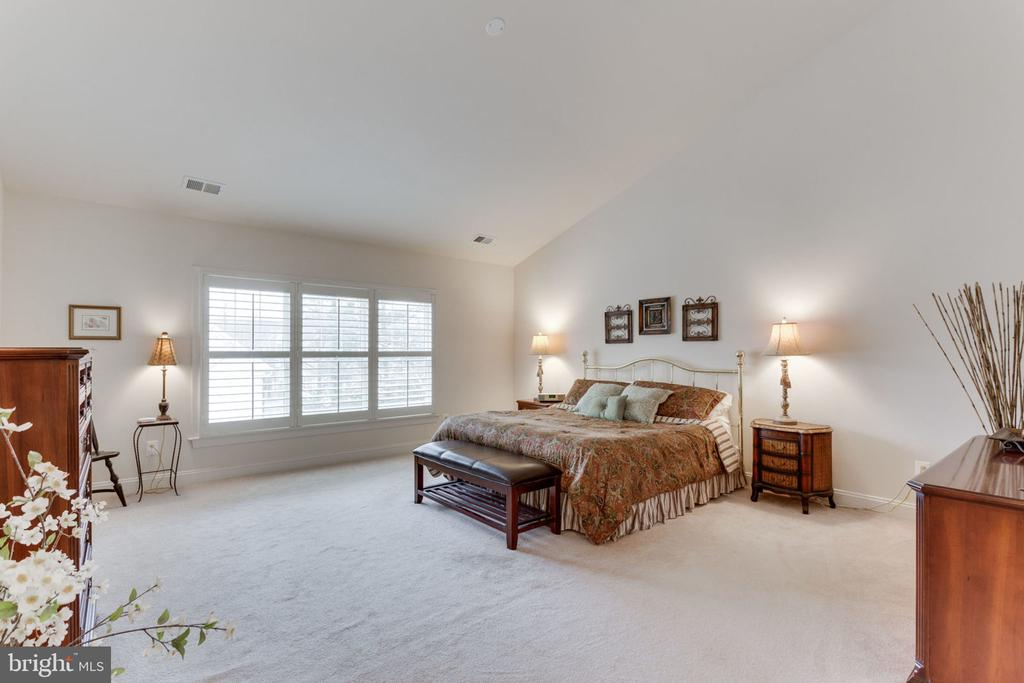 Master bedroom with vaulted ceilings. - 6397 GAYFIELDS RD, ALEXANDRIA