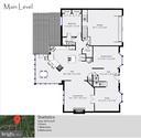 Main Level Floor Plan - 20440 SWAN CREEK CT, STERLING