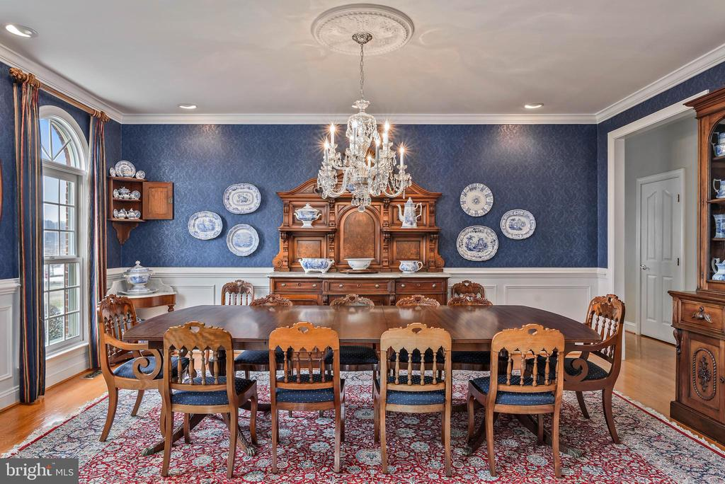 Dining Room, Hardwood Floors - 35190 DORNOCH CT, ROUND HILL