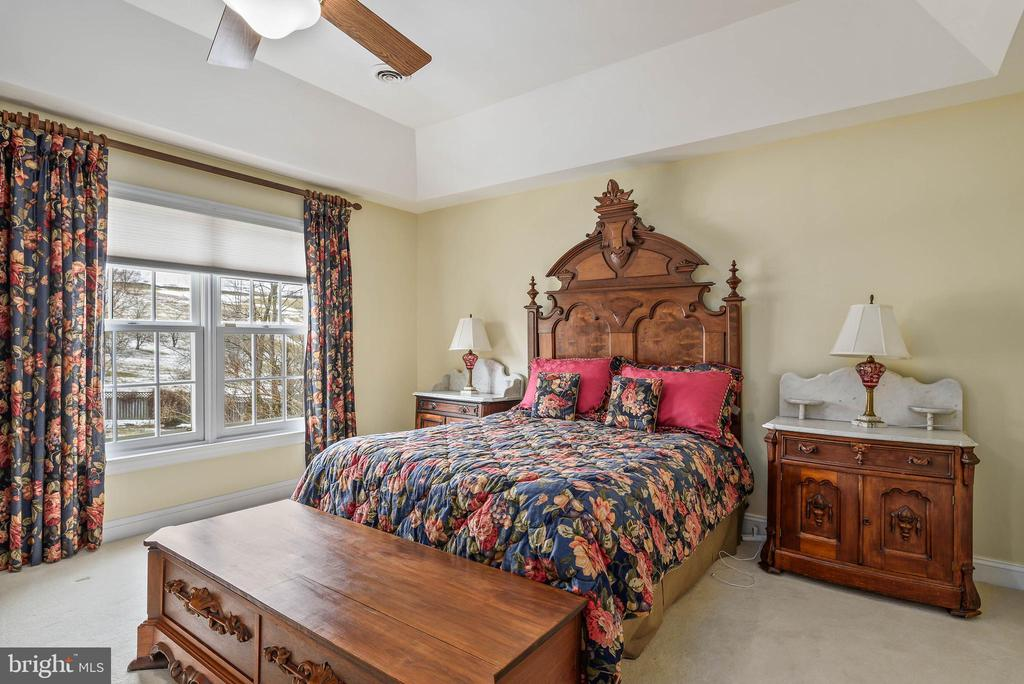 Mater Bedroom with view of Pool - 35190 DORNOCH CT, ROUND HILL