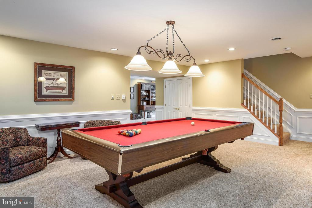 Lower Level Billiards Room - Pool Table Conveys - 35190 DORNOCH CT, ROUND HILL