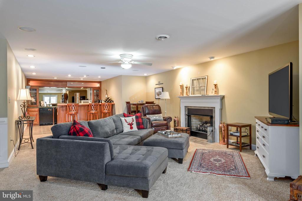 Lower Level Family Room, Wet Bar and Gas Fireplace - 35190 DORNOCH CT, ROUND HILL