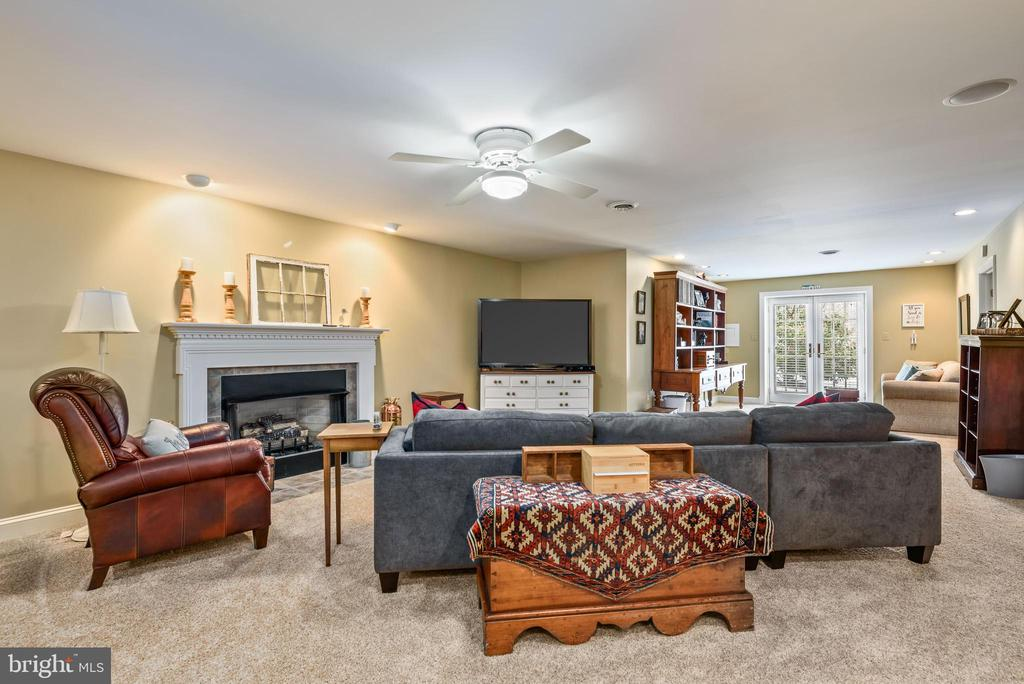 Lower Level Family  Room with GasnFireplace - 35190 DORNOCH CT, ROUND HILL