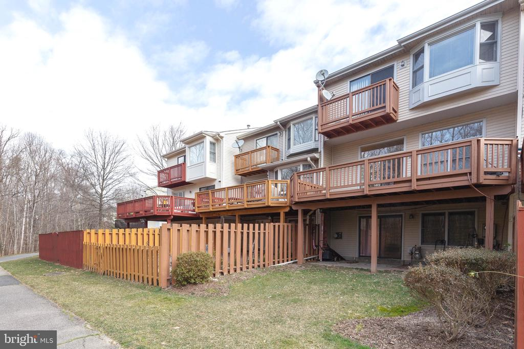 Patio with access to Walking Trail - 9087 GOLDEN SUNSET LN, SPRINGFIELD
