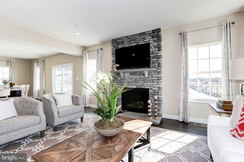 beautiful stone fireplace - 6732 SERVICEBERRY DR, FREDERICK