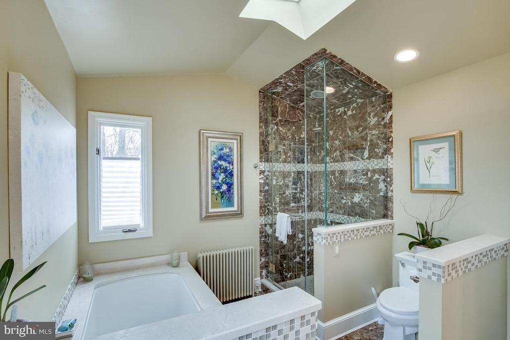 gorgeous master bath on upper level - 5308 HUNTINGTON PKWY, BETHESDA