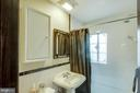 remodeled bathroom on main level - 5308 HUNTINGTON PKWY, BETHESDA