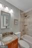 The hall bath has granite - 6808 HACKBERRY ST, SPRINGFIELD