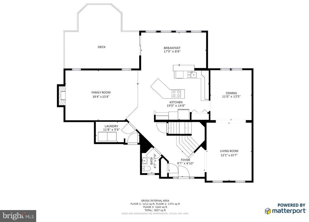 Main level - 5 KLINE CT, STAFFORD