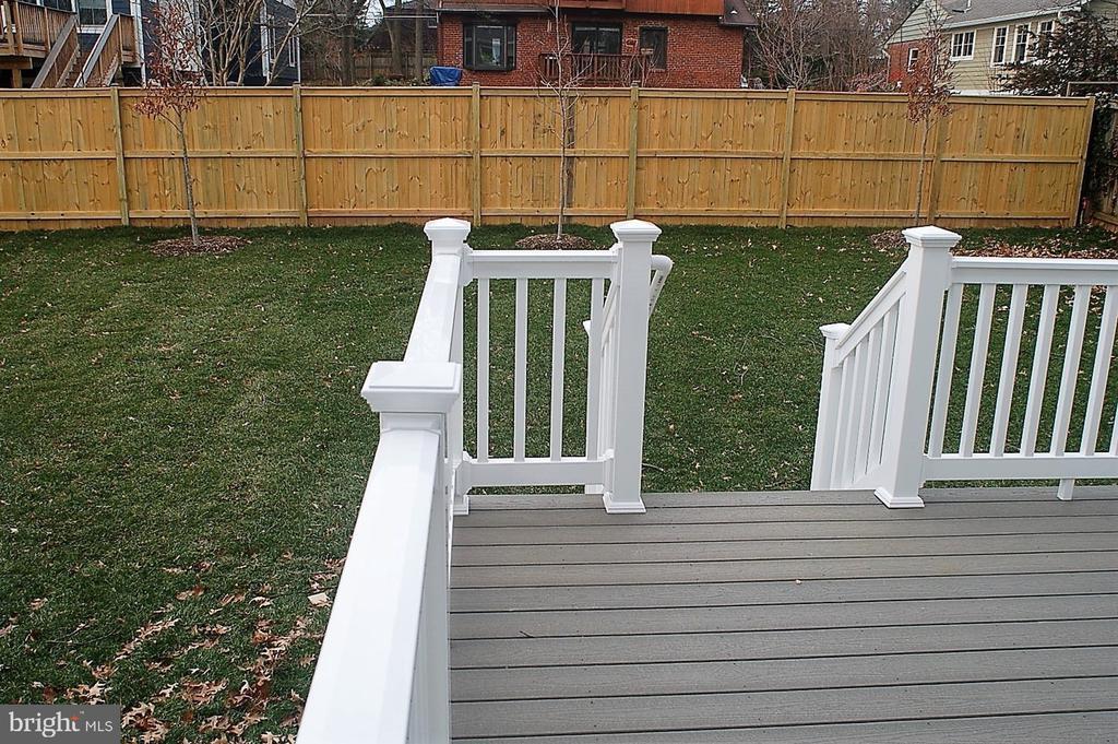 Deck Backyard - 7534 LISLE AVE, FALLS CHURCH