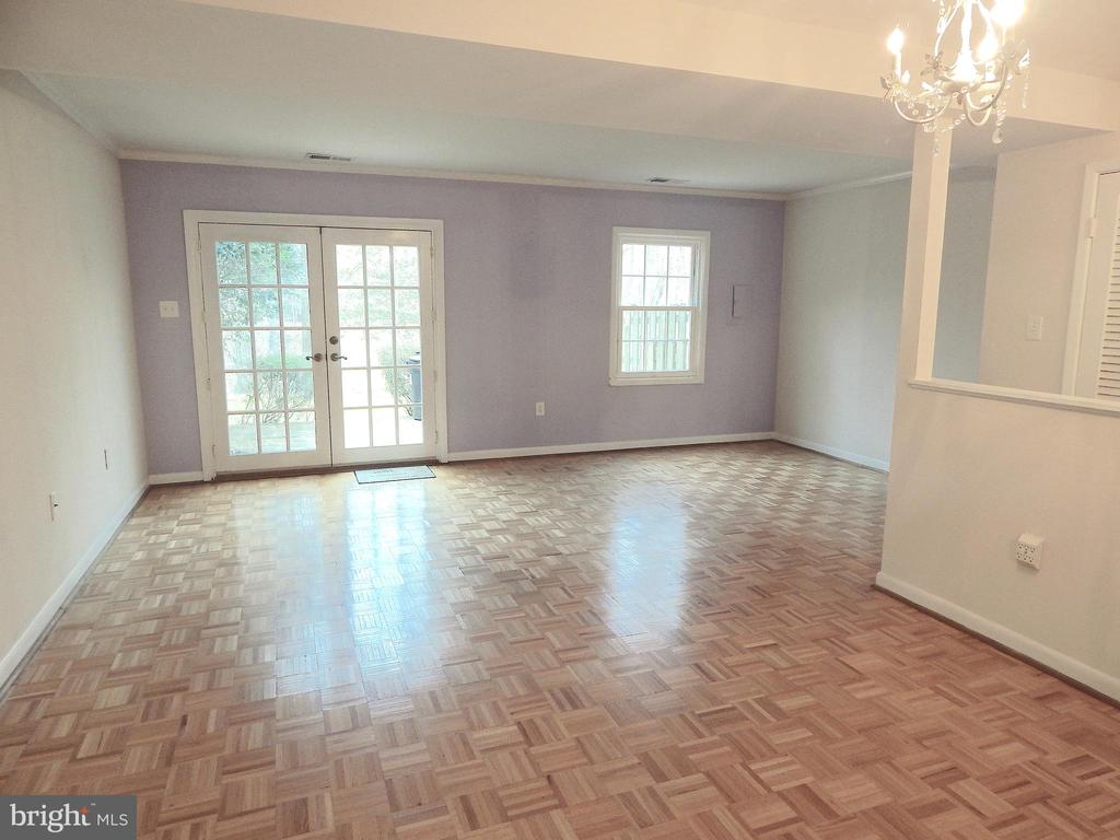 Living Room w/french doors onto ground level Deck - 444 GREENBRIER CT #444, FREDERICKSBURG