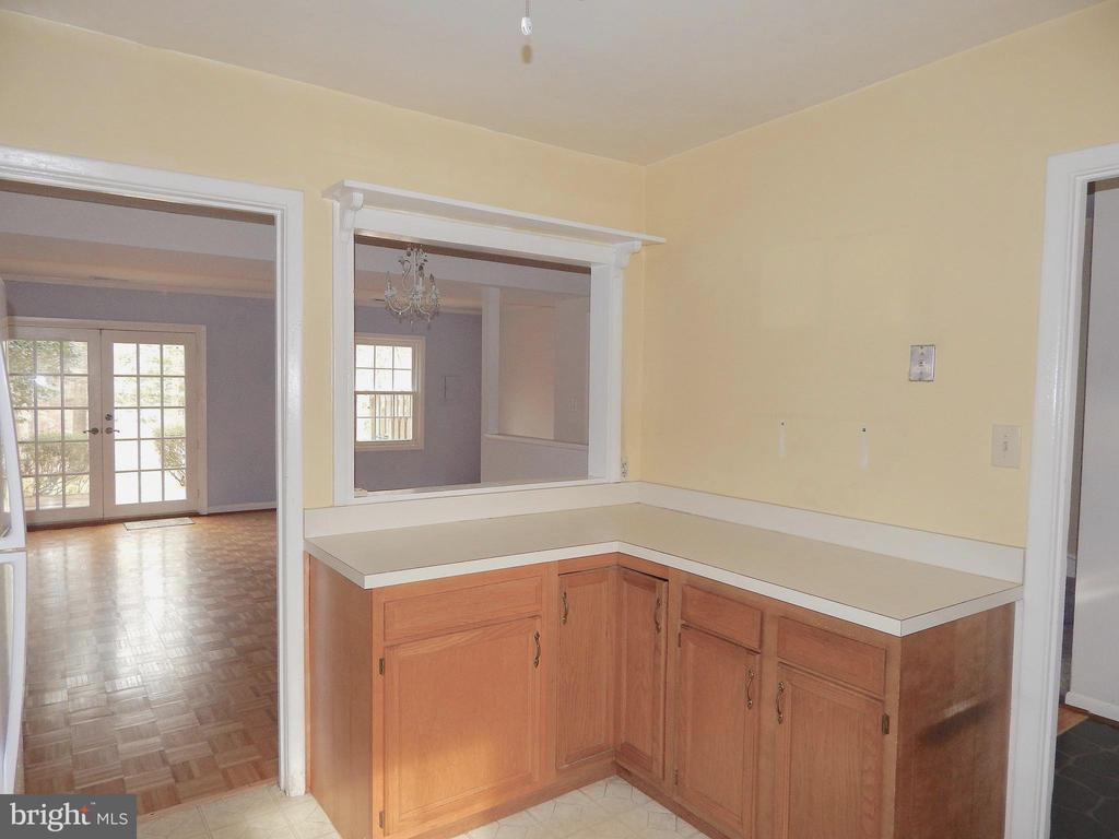 View from Kitchen into Dining Room/Living Room - 444 GREENBRIER CT #444, FREDERICKSBURG