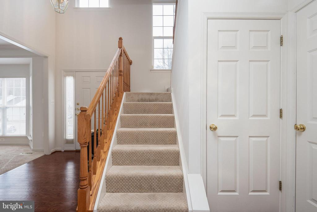 Newly carpeted stairway - 17 HEATHERBROOK LN, STAFFORD