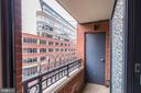 Private Balcony - 1021 N GARFIELD ST #445, ARLINGTON