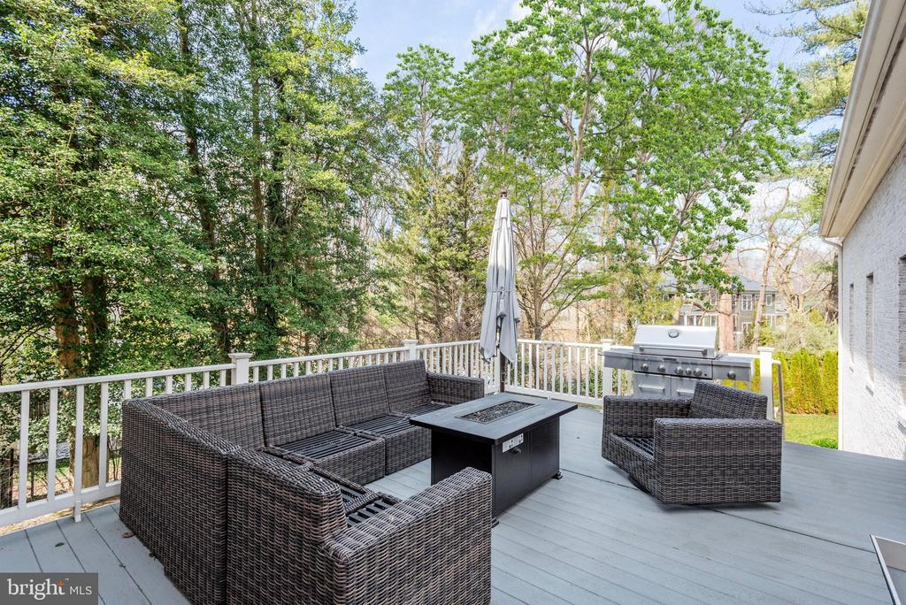 Expansive Deck Off of Family Room - 6924 RIVER OAKS DR, MCLEAN