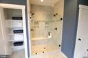 Luxury Owner's Shower with dual Shower Heads - 3005 WEBER PL, OAKTON