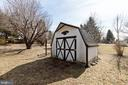 Cute little storage shed - 11723 ROBINWOOD DR, HAGERSTOWN