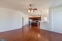 view from family room into kitchen - 18218 ROCKLAND DR, HAGERSTOWN