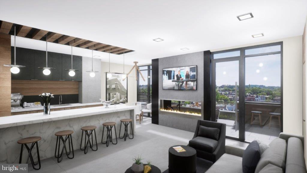 Rooftop clubroom with incredible views - 610 T ST NW #801, WASHINGTON