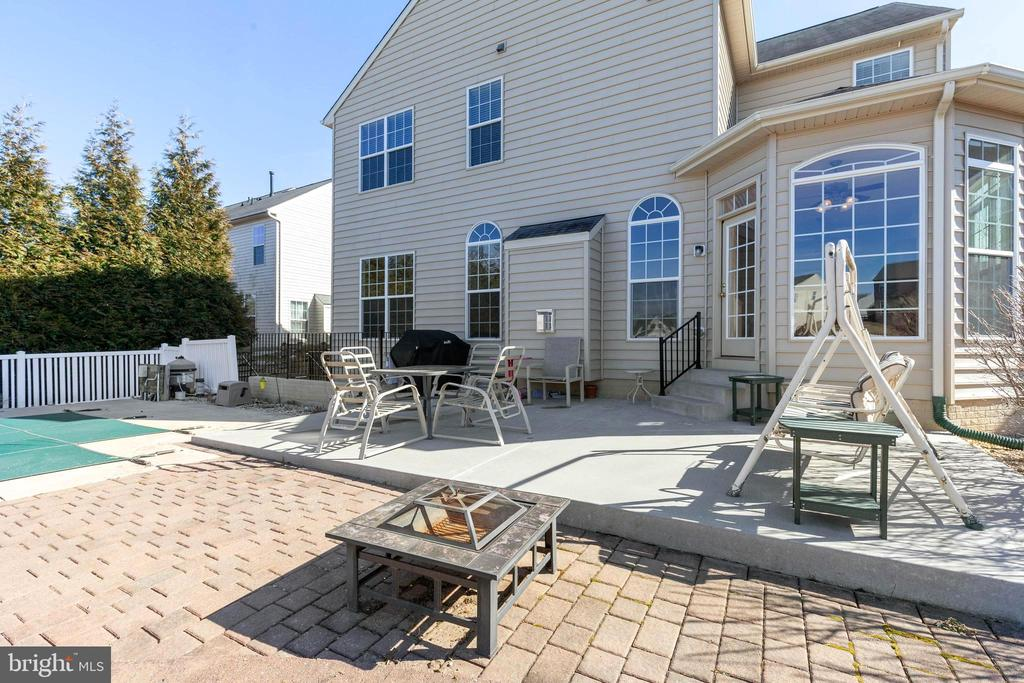 cement patio PLUS brick paver area - 18218 ROCKLAND DR, HAGERSTOWN