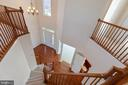 view from upper level to foyer - 18218 ROCKLAND DR, HAGERSTOWN