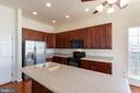 Large granite kitchen island - 18218 ROCKLAND DR, HAGERSTOWN