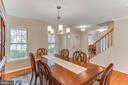Separate Dining Room, spacious - 4800 JENNICHELLE CT, FAIRFAX
