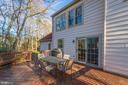 Enjoy the privacy from your deck - 4800 JENNICHELLE CT, FAIRFAX