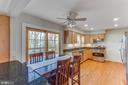 French doors to large deck - 4800 JENNICHELLE CT, FAIRFAX