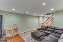 Recreation room on lower level - 4800 JENNICHELLE CT, FAIRFAX