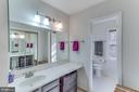 Master bath has dual vanities, one in and one out - 4800 JENNICHELLE CT, FAIRFAX
