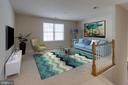 Virtually staged upper level loft - 6136 FERRIER CT, GAINESVILLE