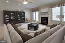 Virtually staged family room - 6136 FERRIER CT, GAINESVILLE