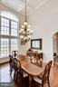 Grand Dining Room with 16' Coffered Ceilings - 21562 GREENGARDEN RD, UPPERVILLE