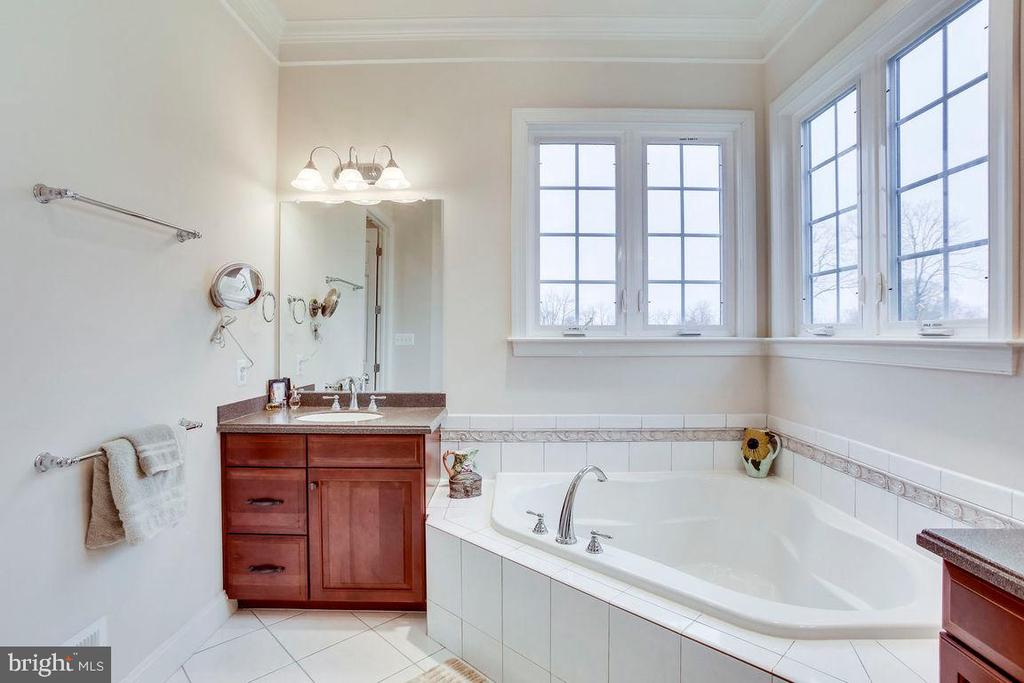 Master Bath with 2 Vanities and Soaking Tub - 21562 GREENGARDEN RD, UPPERVILLE