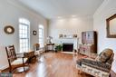 Living Room with Wood Burning Fireplace - 21562 GREENGARDEN RD, UPPERVILLE