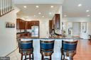 Kitchen with Breakfast Bar - 21562 GREENGARDEN RD, UPPERVILLE