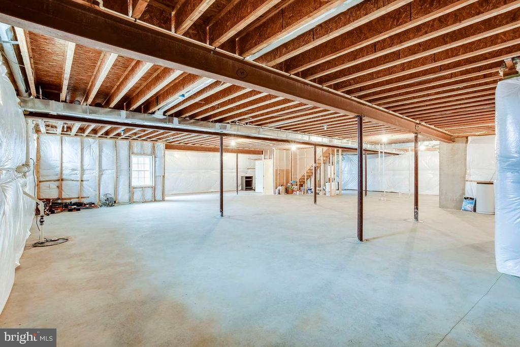 2000+ Sq Ft Unfinished Basement - 21562 GREENGARDEN RD, UPPERVILLE