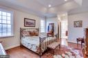 Main Level Master Bedroom with Tray Ceiling - 21562 GREENGARDEN RD, UPPERVILLE