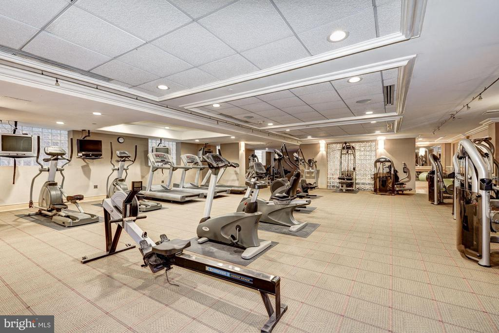 Expansive in building gym. - 616 E ST NW #822, WASHINGTON