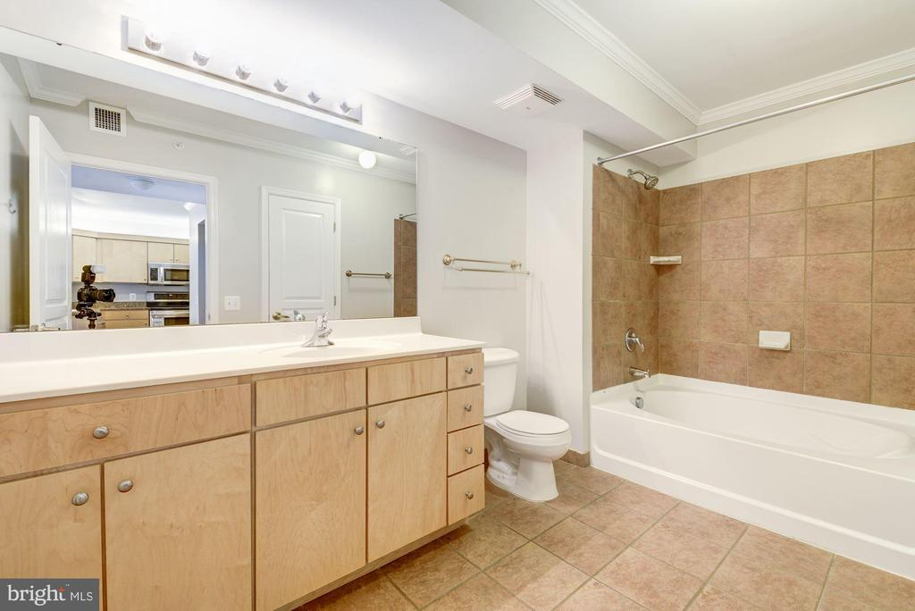 Large vanity bath w/ ample storage + linen closet - 616 E ST NW #822, WASHINGTON