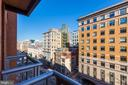 View from juliette balconies. - 616 E ST NW #822, WASHINGTON
