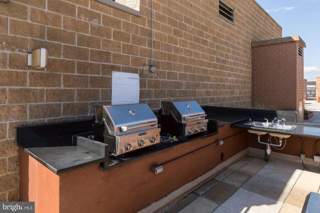 Grills and party space on roof. - 616 E ST NW #822, WASHINGTON